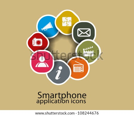 social media icon, communication in the global networks - stock vector