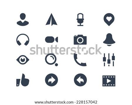 Social media icons - stock vector