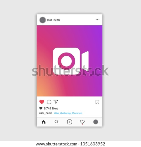 Social Media Instagram Video Frame Gradient Stock Vector 1051603952 ...