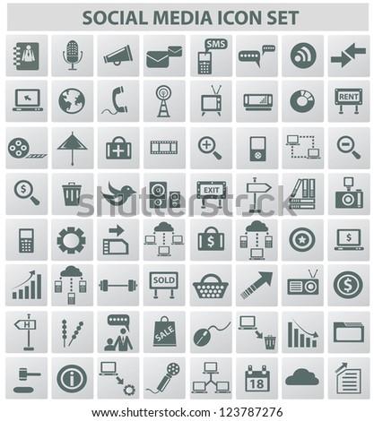 Social media & internet concept,icons,vector - stock vector