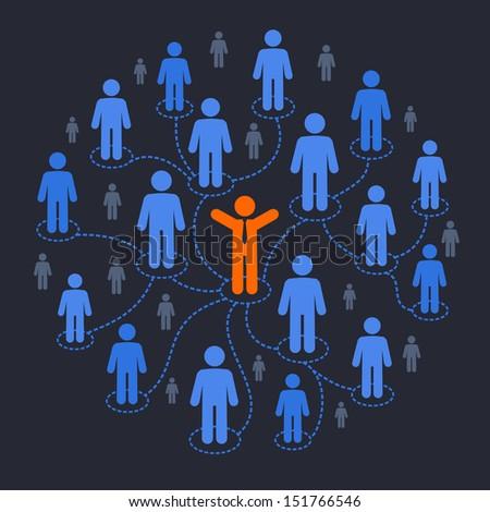 Social media marketing - stock vector