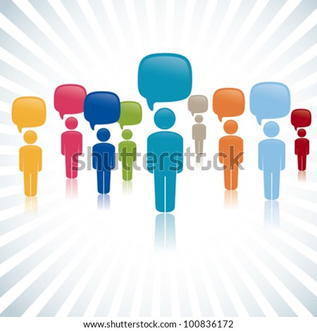 Social media network, vector illustration - stock vector