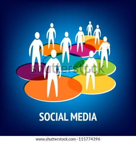 Social Media, Networking - stock vector