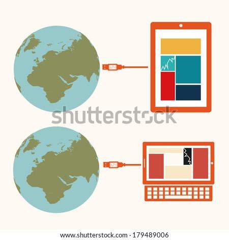 social media  over  white background vector illustration - stock vector
