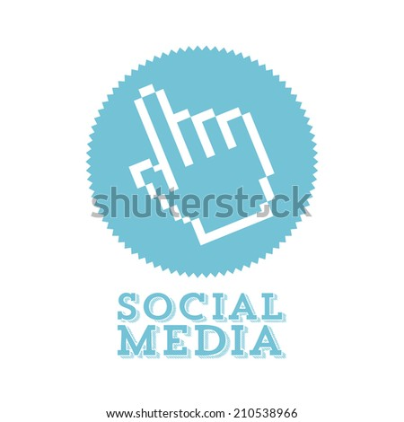 social media over white background vector illustration