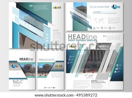 social media posts set business templates stock vector 604994882 shutterstock. Black Bedroom Furniture Sets. Home Design Ideas