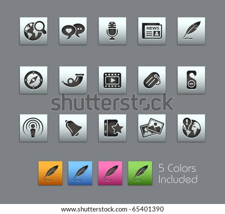 Social Media // Satinbox Series -------It includes 5 color versions for each icon in different layers ---------