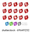 Social Media // Stickers Series -------It includes 5 color versions for each icon in different layers --------- - stock vector