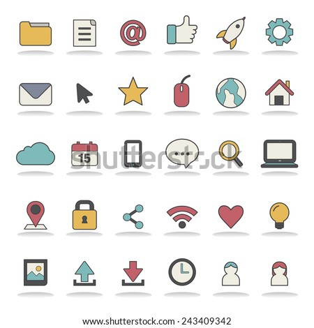 Social Media User Interface Icon Symbol Vector Concept