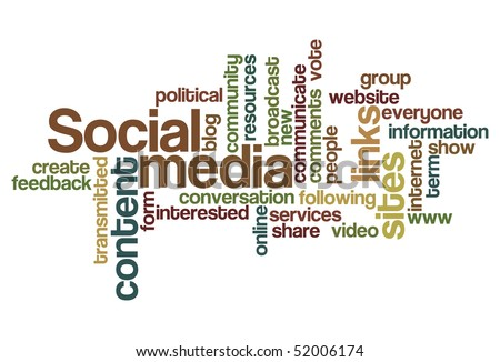 Social media - Word Cloud - stock vector