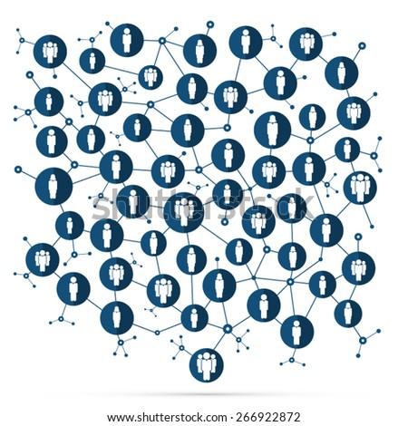 Social network - stock vector