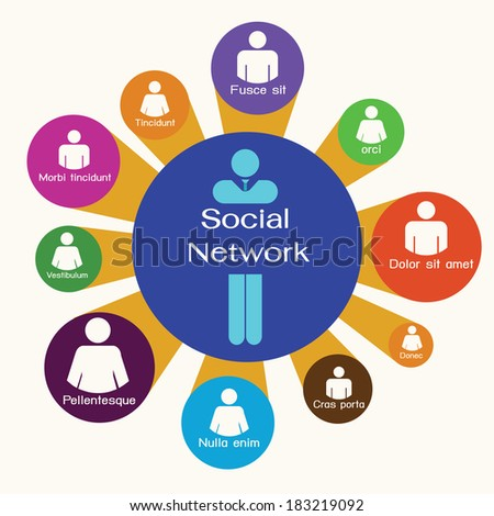 Social Network,business team,infographic. - stock vector