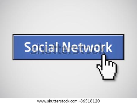 Social network button - stock vector