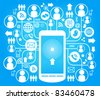 social network, communication in the global computer networks - stock vector