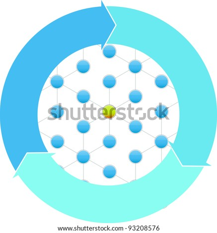 Social Network concept and business diagram - stock vector