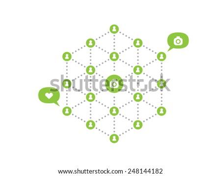 Social Network Concept Diagram - stock vector