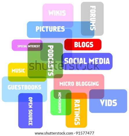 social network concept, vector illustration - stock vector