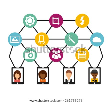 social network design, vector illustration eps10 graphic