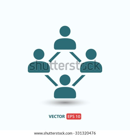 Social network  icon. One of set web icons - stock vector