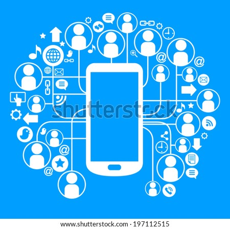 Social network telephone communication global computer stock vector social network telephone communication in the global computer networksmunication in the global telephone publicscrutiny Images