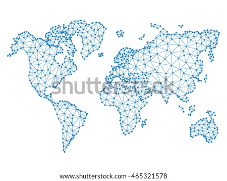 Social network vector poly world map stock vector 465321578 social network vector poly world map illustration dotted cities mockup concept for infographics gumiabroncs Gallery
