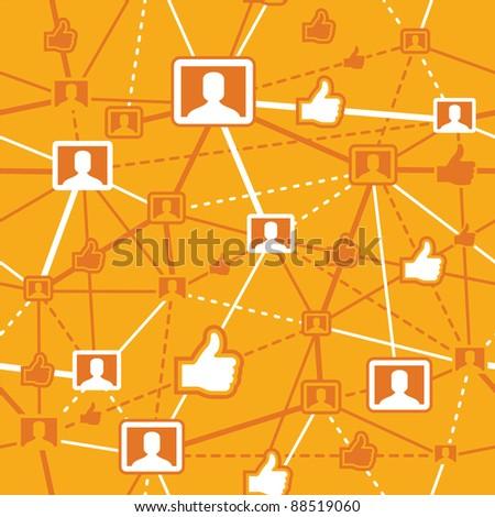 Social Networking - stock vector