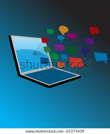 Social networking concept (eps10 vector) - stock vector