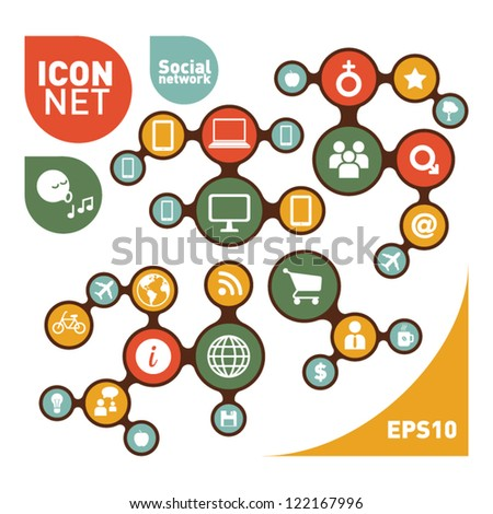 Social Networking Creative Icon Collection - stock vector
