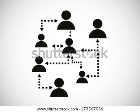 Social Networking Illustration - stock vector