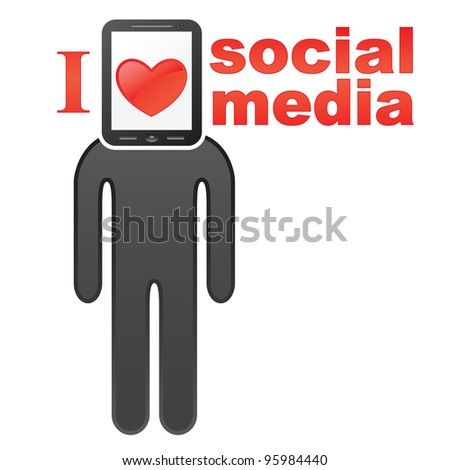 Social networks concept icon. EPS 8 vector illustration - stock vector