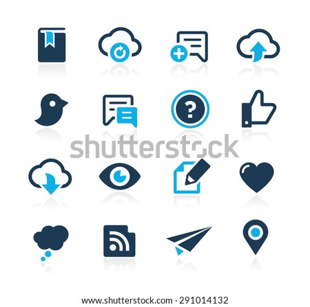 Social Sharing and Communications // Azure Series - stock vector