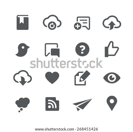 Social Sharing // Apps Interface - stock vector