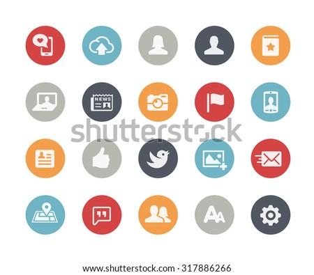 Social Web Icons // Classics Series - stock vector