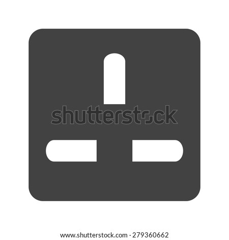 Socket, plug, outlet icon vector image. Can also be used for energy and technology. Suitable for web apps, mobile apps and print media. - stock vector