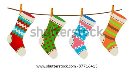 Socks - stock vector