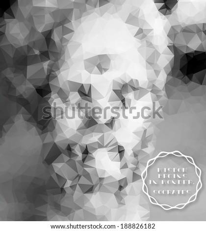 Socrates statue-Vector mosaic - stock vector