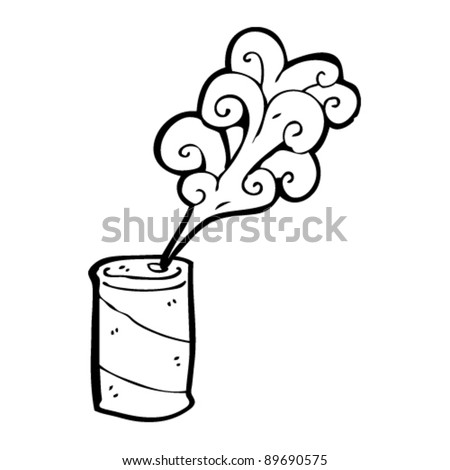 soda can cartoon - stock vector