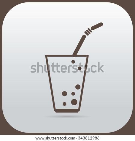 Soda glass icon Vector illustration EPS 10 - stock vector