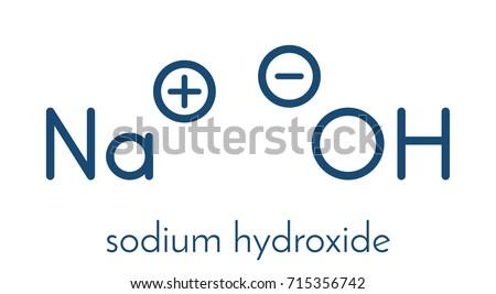 Sodium hydroxide lye caustic soda chemical stock vector hd royalty sodium hydroxide lye caustic soda chemical structure skeletal formula urtaz Images