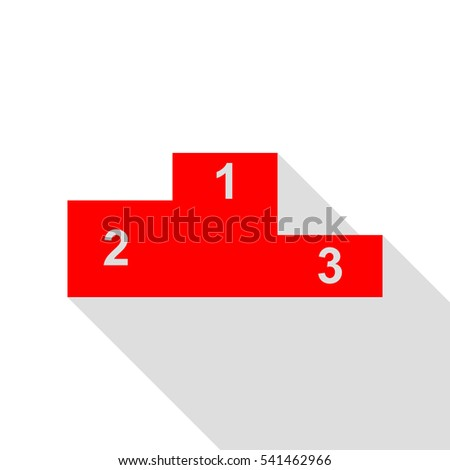 Sofa sign illustration. Flat style icon. Red icon with flat style shadow path.