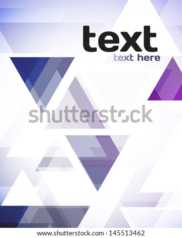 Soft Abstract Geometric Background - stock vector