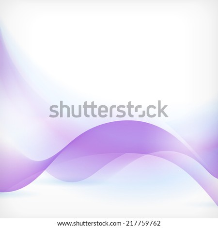 Soft and dreamy abstract background with wave pattern in shades of blue and purple - stock vector