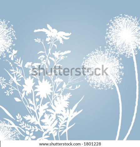 soft background flowers - stock vector