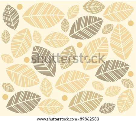 soft background with leaves