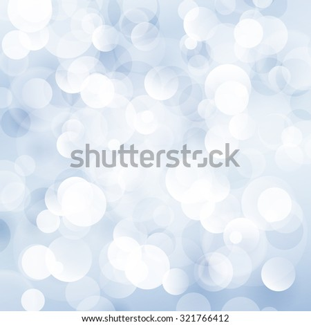 Soft  Bright Abstract Bokeh Background  in Shades of Blue, Soft Glow of the Sun ,   Defocused Lights, Vector Illustration