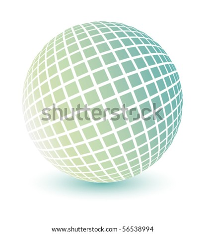 Soft colored globe vector. - stock vector