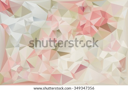 Soft-Colored Polygonal Abstract Background  - stock vector