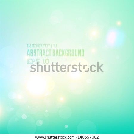Soft colored summer sky abstract background - stock vector
