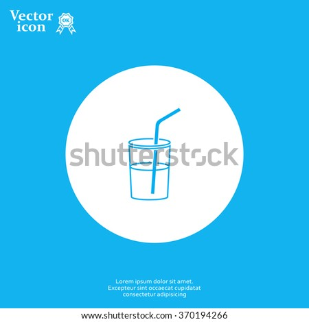 Soft drink vector icon