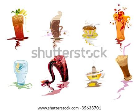Soft drinks - stock vector